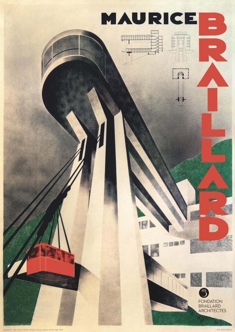 Maurice Braillard et le téléphérique du Salève – Affiche